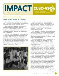 Impact automne 2009 - Cuso International
