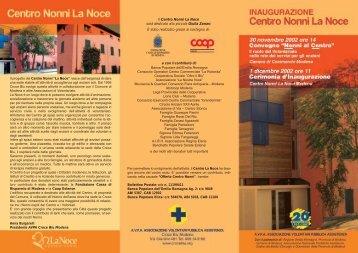 """Il progetto del Centro Nonni """"La Noce"""" nasce dall'esigenza di dare ..."""