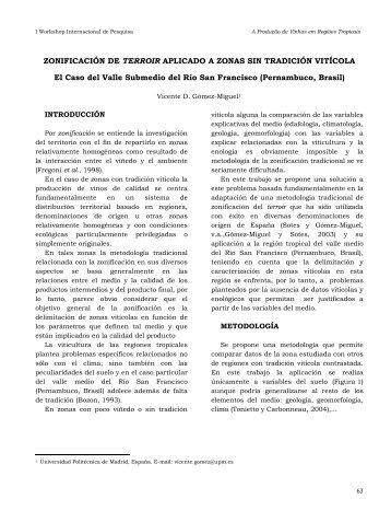 ZONIFICACIÓN DE TERROIR APLICADO A ZONAS SIN ...