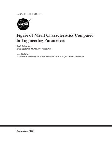 Figure of Merit Characteristics Compared to Engineering Parameters