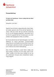 PS-Sparen der Sparkassen - Sparkasse Schweinfurt
