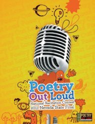 Program from the 2011 Nevada Poetry Out Loud Contest