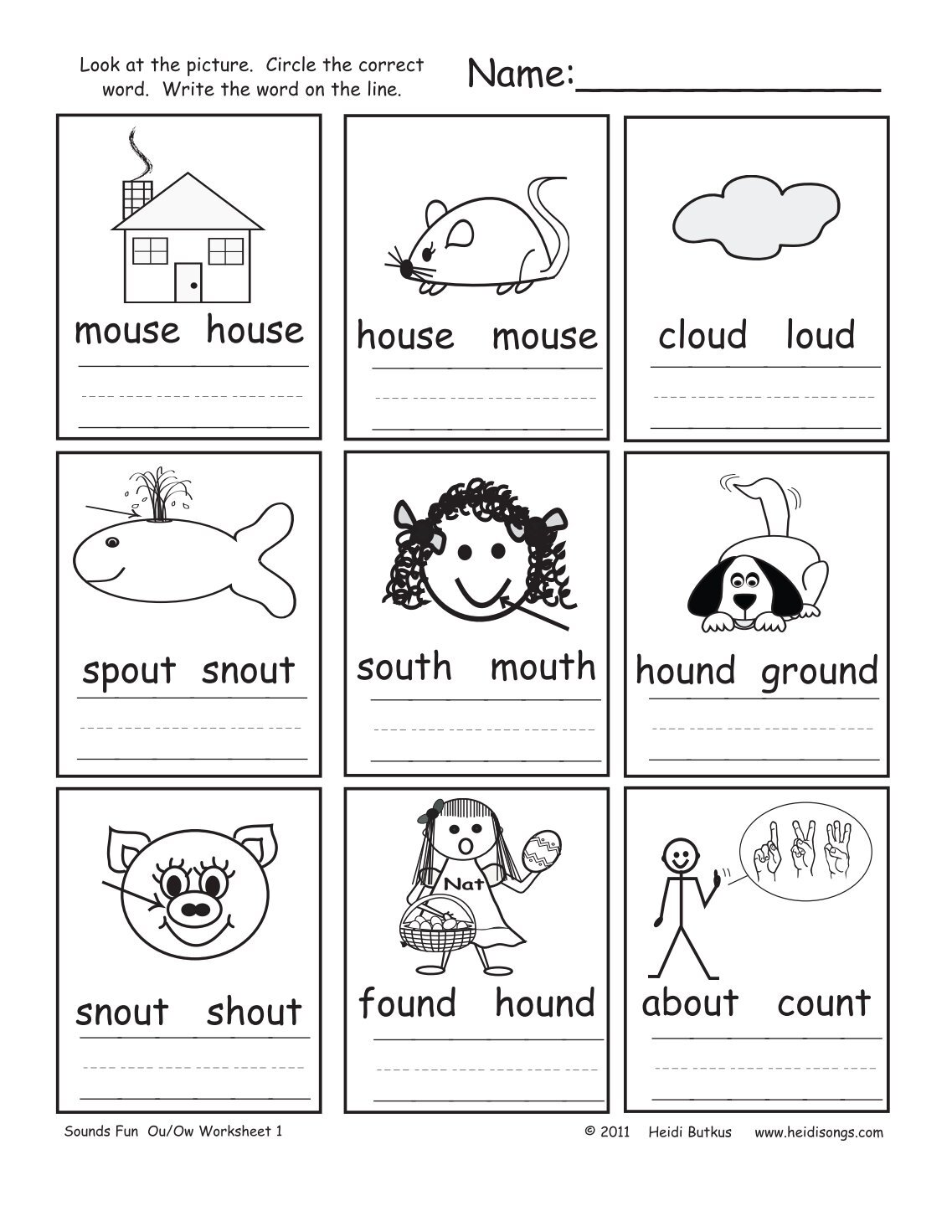 worksheet Ou Ow Worksheets 140 free magazines from heidisongs com com