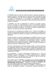 POLÍTICA DE APOIO A INVENTORES INDEPENDENTES ... - Fapemig