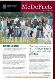 MeDeFacts March 2010 - The University of Western Australia