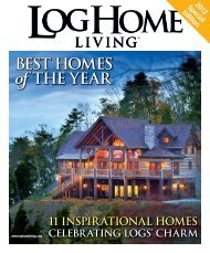 BEST HOMES of THE YEAR - Pioneer Log Homes Midwest