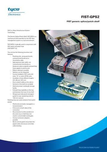 DATASHEET - FIST-GPS2 - FIST generic splice/patch shelf