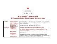 Kursübersicht 2. Halbjahr 2011 der Bezirksstelle des Roten Kreuzes ...