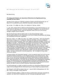 BSV: Mitteilungen über die berufliche Vorsorge Nr. 121 vom 6.1 ...
