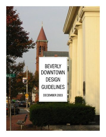 BEVERLY DOWNTOWN DESIGN GUIDELINES - City of Beverly