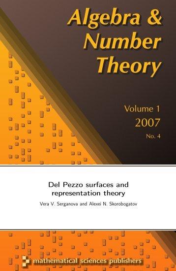Algebra & Number Theory Algebra & Number Theory Algebra ...