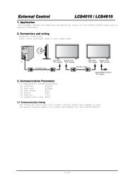 External Control LCD4010 / LCD4610 - NEC Display Solutions