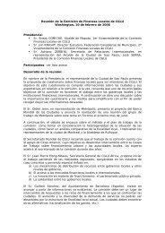 Runion de la Commission Finances Locales - UCLG