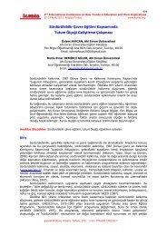 Araştırmanın Yöntemi - International Conference on New Trends in ...