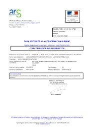 Analyses eau potable 29 mai 2013 - Molsheim