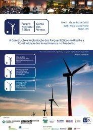 Leia mais... - Fórum Nacional de Energia