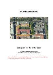 PLANBESKRIVNING Detaljplan för del av kv Oden - Skellefteå ...