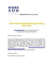 Newsletter Bildungsauftrag Nord-Süd Nr. 51 / Juli 2011 - World ...