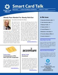 Download PDF Version of the March Smart Card Talk.
