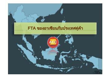 FTA ของอาเซียนกับประเทศคู่ค้า