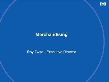 IMI plc - Merchandising - Roy Twite presentation - Capital Markets ...