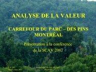 Carrefour du Parc – des Pins - SCAV-CSVA