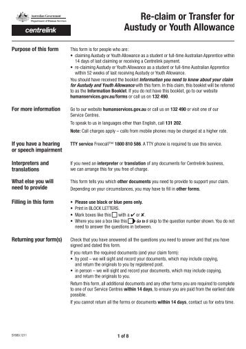 Youth Allowance Form. Jpg 1000x773 Youth Volunteer Backgrounds