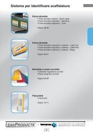Catalogo V. 2.0 - Sistema per identificare scaffalature - LeanProducts