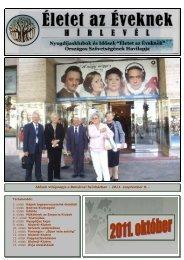 """2011 Október - """"Életet az éveknek"""" Országos Szövetsége"""