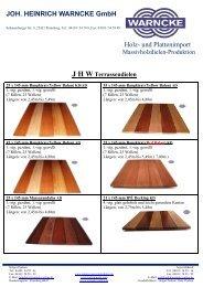 JOH. HEINRICH WARNCKE GmbH Holz- und Plattenimport