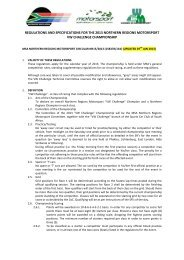 regulations and specifications for the 2012 northern regions ...