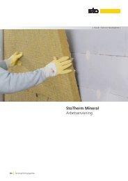 StoTherm Mineral Arbetsanvisning - Sto Scandinavia AB