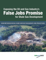 Oil and Gas Industry's False Jobs Promise - Food & Water Watch