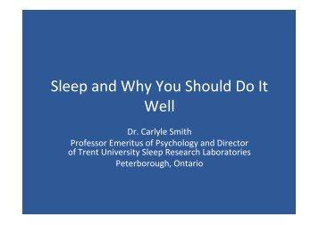 sleep. - Manitoba Farm & Rural Support Servic