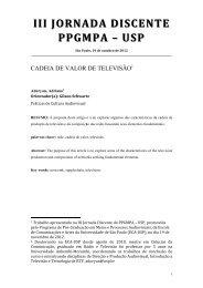 III JORNADA DISCENTE I JORNADA DISCENTE ... - ECA-USP