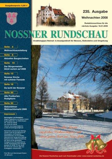 Weihnachtsausgabe 2008 - Nossner Rundschau