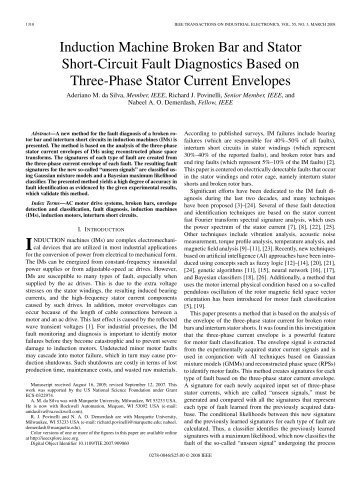 Induction Machine Broken Bar and Stator Short-Circuit ... - IEEE Xplore