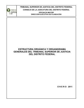 Dictamen Estructura Gral 2011 - Poder Judicial del Distrito Federal