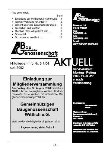 Gemeinnützige Baugenossenschaft Wittlich eG