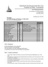 Protokoll der PGR-Sitzung am 11. März 2013 - Herz Jesu Fechenheim