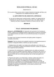 RESOLUCION EXTERNA No. 6 DE 2001 (Septiembre 21 ... - Felaban