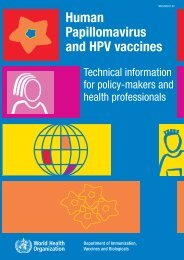 Human papillomavirus and HPV vaccines - libdoc.who.int - World ...
