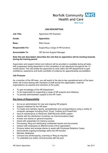 Beau Human Resources Job Description, Norfolk