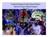 Freehold Regional High School District Random Drug Testing ...