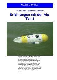 Erfahrungen mit der Alu - Teil 2 - MODELL-U-BOOTE.de