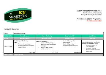 to download the full Final Programme. - CCSSA