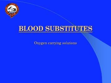 blood substitutes (PDF 377 KB)