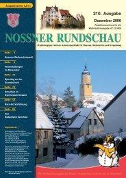 210. Ausgabe Dezember 2006 - Nossner Rundschau