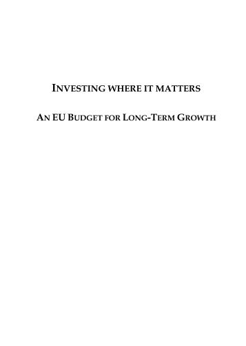 investing where it matters - The Centre for European Policy Studies