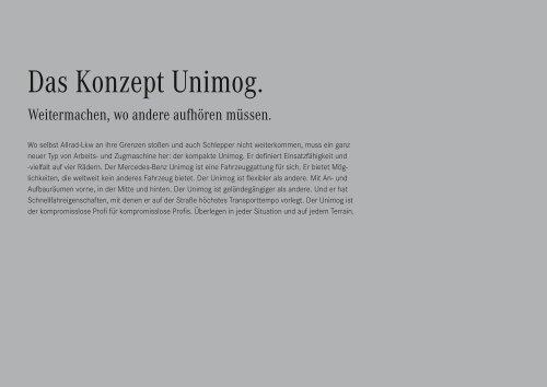 Der Unimog U 20. - Mercedes Benz